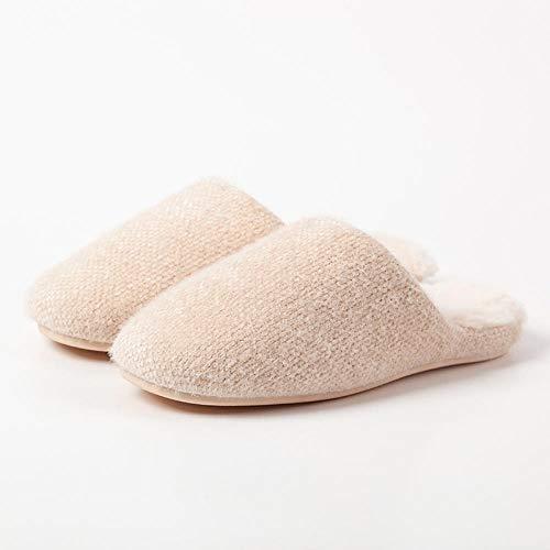 Zapatos de algodón de Felpa para Interiores con Fondo Grueso,Zapatos abrigados de...