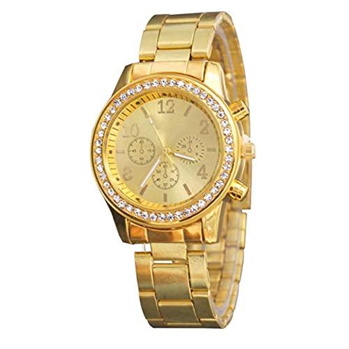 Liadance Relojes Mujeres Analógica Rhinestone Pulsera Reloj Moda Brazalete Relojes