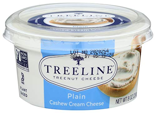 Treeline Vegan Cheese, Cream Cheese Cashew Plain, 8 Ounce