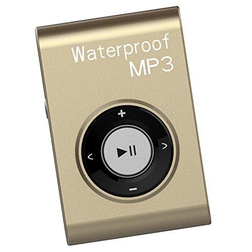 F Fityle Radio Impermeable Portátil de Reproductores Mp3 con Clip Atado para...