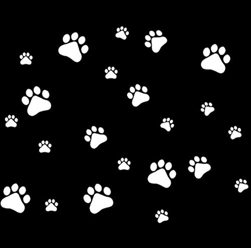RUIRUI Vinyl-Aufkleber mit Hundepfoten-Motiv, für Motorrad, Auto, silberfarben