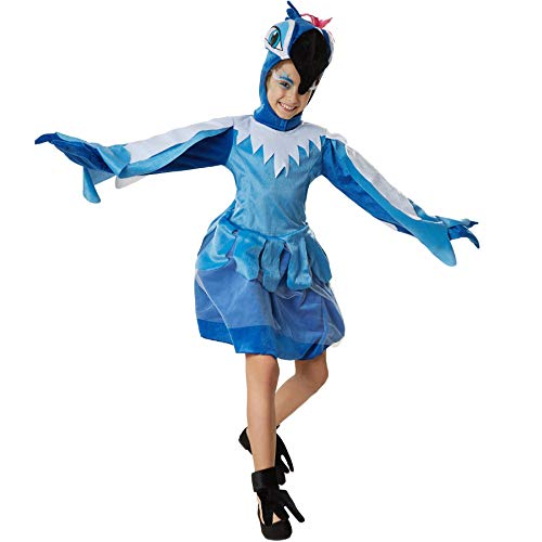 dressforfun 900533 - Disfraz de Chica Papagayo Suntuoso, Disfraz de Loro en Tonos Azules (140 | No. 302468)
