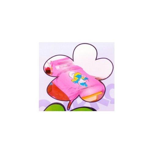 Letto singolo 1 piazza copripiumino 155x200 Puffi Puffetta parure rosa
