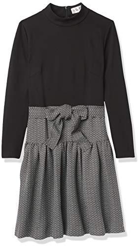 Eliza J Women's Long Sleeve Twofer with SASH Dress, Black, 18