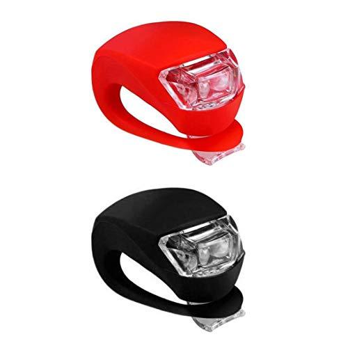 Mortimer Lamb LED Fahrradlicht, 3 Moduseinstellung,Included 2 pcs CR2032 Batterien,Gut für Kinder und Erwachsene,Sport Fahrradbeleuchtung für Mountainbike