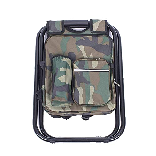 Kettles Camping Plegable para Acampar Silla portátil liviano Multifuncional con Enfriador Aislado de Picnic Camuflaje Asiento Bolso de Mesa para Camping Playa de Senderismo Pesca (Color : Green)
