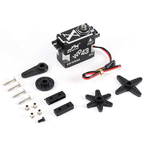 SeniorMar Wp43 Servo Jx Wp43 43Kg 8,4 V / 0,11 Sek. Rc Servo Ip67 Nennwasserdichtes Metallgetriebe Aluminium Coreless Servo für Rc Car Truck Helicopter