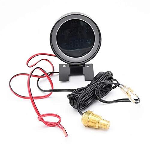 U/D HKRSTSXJ Sensor de Temperatura del Motor voltímetro medidor de voltios de tensión 12V 24V LED Digital del Coche camión de Agua de Temperatura Medidor de Temperatura