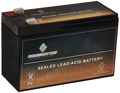 SLA Replacement Battery for 12V 9AH Battery- Battery For APC RBC GP1272 PS1270 ES7-12- AGM SLA Battery- Chrome Battery