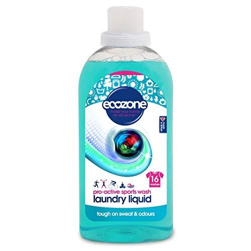 Ecozone Detergente Deportivo Pro-Active Sports, 100% líquido, Azul, 750 ml