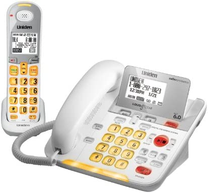 D3098 DECT 6 0 Expandable Corded Cordless Phone withCaller ID and Answering System White 1 Handset product image