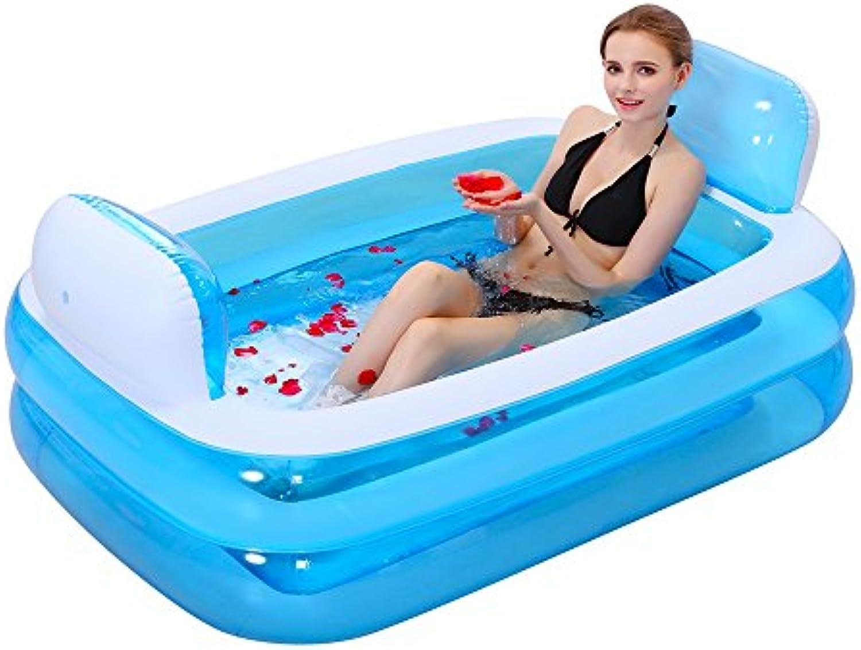 FLYSXP Aufblasbare Badewanne Faltbare Badewanne Verdicken Erwachsene Wanne Kinder Badewanne Aufblasbare Badewanne (Farbe   Blau, gre   Electric Pump)