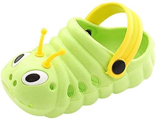 TMEOG Baby Sandals, Boys Girls Sandals Clogs Cute Caterpillar Slip On Lightweight Kid's Beach Slipper (Fruit Green, 2_Years)
