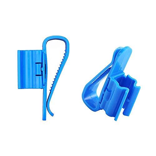 Aquarium Wasserrohr Halter 2 Stück Fisch Tank Schlauchhalter Wasserröhrchen Klemme Feste Clip Einstellbare 8-16mm Kunststoff Blau