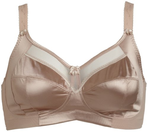 Goddess Keira Side Support Wire-Free Bra, 54D, Fawn