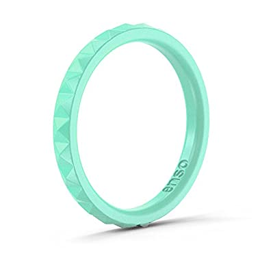 Enso Womens Stackable Silicone Rings Mint Green. Size: 4