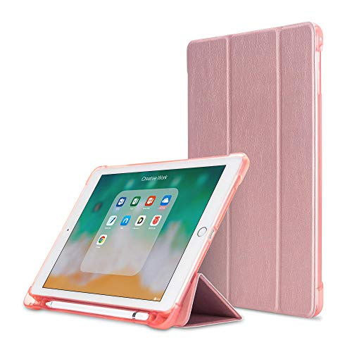 YYLKKB For iPad Air 4 10.9 2020 TPU Cover Soft Case For iPad Air 2020 4th generation Tablet Transparent Back Case without Pencil-Rose Gold_10.2 7th 8th Gen