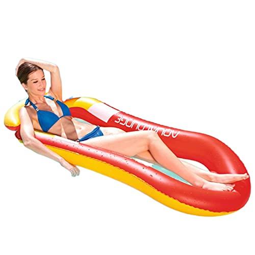 N\C Piscina Flotante para Adultos Piscina Inflable para Adultos Adecuada para Adultos Agua de Alta Resistencia Lago Flotante Piscina a la Deriva reclinable para Hombres Piscina Flotante Hamaca