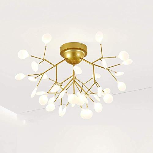 Luz de techo moderna, luz colgante vintage, araña de esputinik, para sala de estar comedor semi-flush monte colgante luz lámpara colgante, lámpara de chandelier dorado blanco d 45 luces