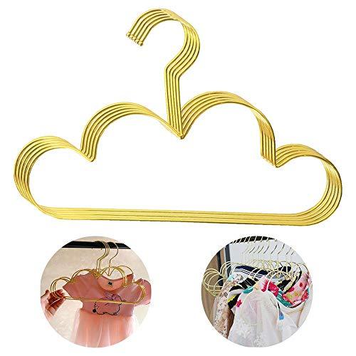 Y-F Gancho de Pared con Forma de Nube de 5 uds para Almacenamiento de Ropa, Perchero de Hierro Dorado Antideslizante, Perchero Organizador de Almacenamiento para Ropa, Toalla