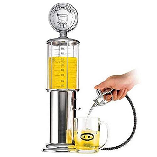 KONGZIR Juego de Mesa dispensador de la Cerveza de la máquina recipientes for Beber de la Bomba de Cabezal único con Capa Transparente Diseño Barra de Estaciones de Gas for Beber