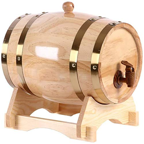SETSCZY Barriles de Madera Barril de envejecimiento de Roble Barril de Roble, Barril de Vino 5L, Bebidas para Brandy para Whisky de Vino