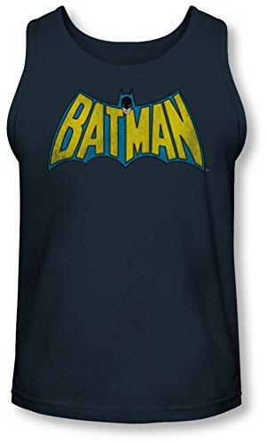 Dc - Classique Batman Logo Tank-Top pour hommes, Medium, Navy