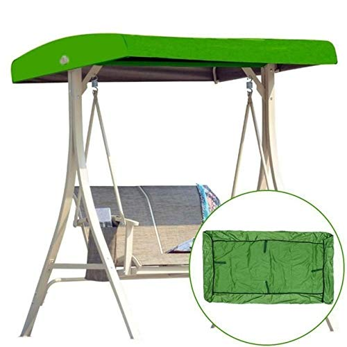 no-branded Tarp Tarpaulin Waterproof Top Cover Canopy Replacement for Garden Courtyard Outdoor Swing Chair Hammock Canopy Swing Chair Awning Waterproof Tarp MDYHJDHYQ (Color : Green, Size : Free)