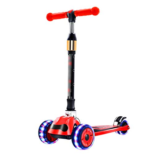 Find Bargain Kick Scooters Children Scooter Foldable Scooter Four-Wheel Flash Wheel Scooter Suitable...