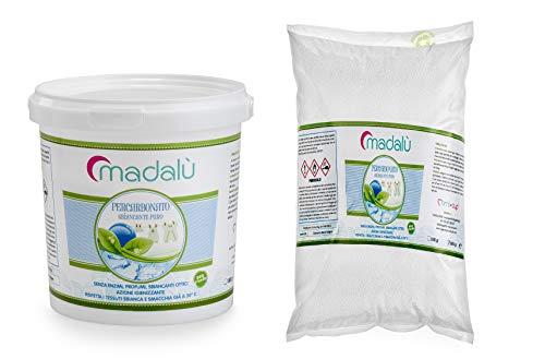 MAMICUP Percarbonate de sodium 1 kg en seau + 1 kg de recharge détachée, blanchissant, désinfectant