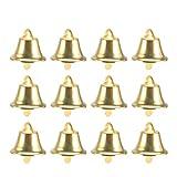NUOBESTY 120pcs Campane Artigianali Natalizie campanellini Jingle in Metallo Albero di Natale Decorazioni appese Ornamento Dorato (16mm)