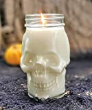 Skull Soy Candle - Haunted Woods Scented - Halloween Decor