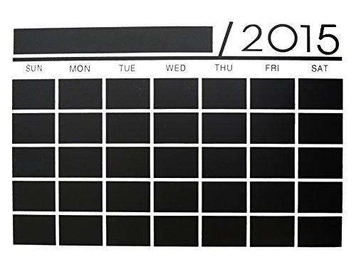 朝の情報番組で紹介していただきました/水拭き/消せる/ウォールステッカー/スケジュール/カレンダー/2015年/共有/予定/調整/管理 (オリジナル貼り方説明書/ホワイトペン)付属