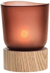 Leonardo 078316 GK Tischlicht mit Holzsockel, rost