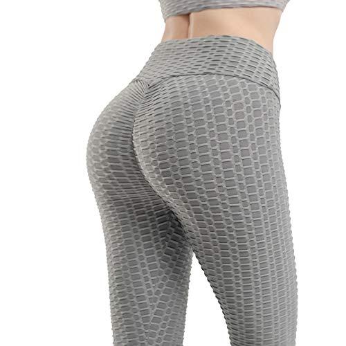Attikee High Waist Yoga Pants for Women, Butt Lifting Booty LeggingsTummy Control Pants Gray