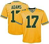 Photo de Maillot de rugby pour homme 17# Davante Adams Green Bay Packers - Maillot de football américain - Unisexe, 123, jaune, XXL(190~195) par