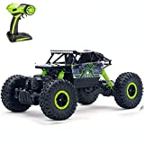 SZJJX RC Cars Off-Road Remote Control Car Trucks Vehicle 2.4Ghz 4WD Powerful 1: 18 Racing Climbing Cars Radio Electric Rock Crawler (Green)