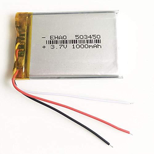 mrwellog Batería Recargable LiPo de polímero de Litio de 3,7 V 1000...