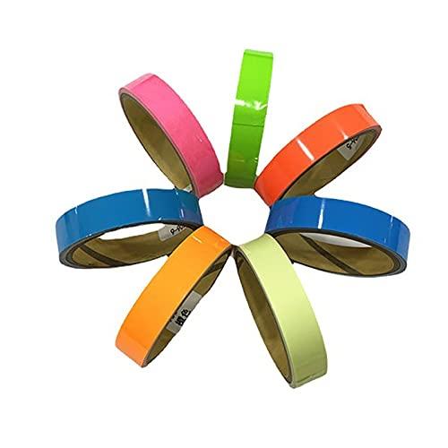 QYTS Blacklight Reactive Tape, Fluorescent Neon Gaffer Tapes Cloth Matt, 7 Colours, Glow Under Black Lights-Luminous Tape||200mm5m