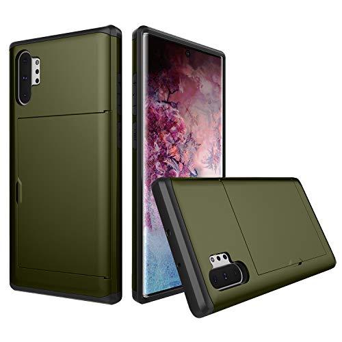 Suhctup Progettato per Samsung Galaxy S7 Edge Custodia Slide Armor Wallet Slot Card Holder Cover, capacità 2 Carte di Credito Ultra Resistente Portafoglio Anti Goccia Case - Marina Militare