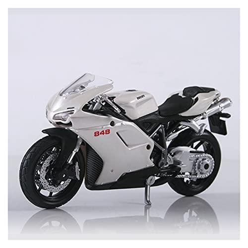 El Maquetas Coche Motocross Fantastico 1:18 para Ducati 848 Simulación Aleación Motocicleta Modelo Absorción Impactos Colección Juguetes De Regalo para Niños Regalos Juegos Mas Vendidos