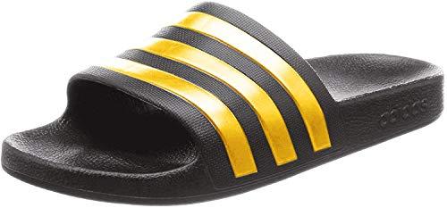 Adidas Adiletten Badelatschen (38 EU, schwarz/Gold)