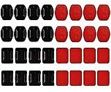 Pegatinas Gopro 3m 32 Piezas Adhesivo Para Camara Accion Soporte Adhesivo Casco Cámara Adhesivos para Gopro Hero 9, 8, 7, 6, 5, 4, Session, 3+, 3, 2, 1, Hero (2018)