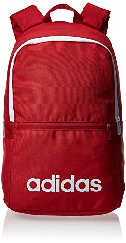 adidas Linear Classic Daily Rucksack, Active Maroon/White, One Size