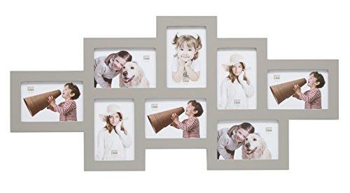 Deknudt Frames S65SW7 Cadre Multi-Photos 8 Ouvertures Gris 10 x 15 cm