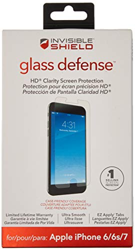 Zagg Invisibleshield Glass Defense – Pellicola Protettiva per Apple iPhone 8, iPhone 7, iPhone 6s, iPhone 6