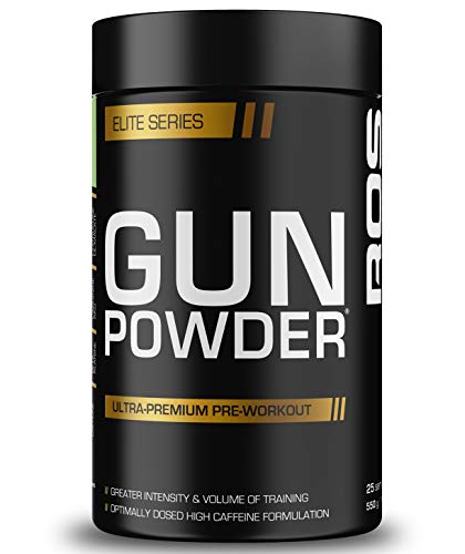 Gunpowder Pre Workout | ROS Nutrition | 565g (25 Servings) | 6g Citrulline Malate, 4g Arginine AKG, 3.5g Beta Alanine, Caffeine (Sour Apple)
