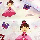 11,99€/m Princess Prinzessin Schmetterling 100% Baumwolle