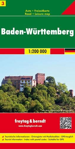 Freytag Berndt Autokarten, Blatt 3, Baden-Württemberg - Maßstab 1:200 000