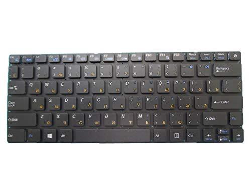 Laptop-Tastatur für Purism Librem 13 V1 13 Version 1 13 VER1 Russland RU, Schwarz ohne Rahmen